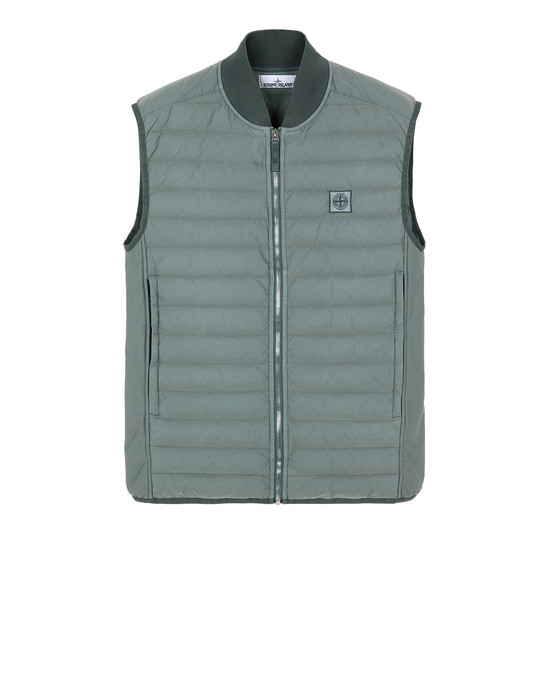STONE ISLAND G0225 LOOM WOVEN DOWN CHAMBERS STRETCH NYLON-TC Vest Man Sage Green