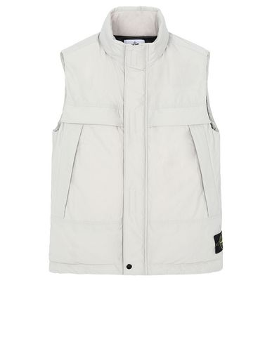 STONE ISLAND G0426 MICRO REPS DOWN Vest Man Dove Gray USD 492
