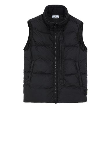 STONE ISLAND G0123 GARMENT DYED CRINKLE REPS NY DOWN Vest Man Black EUR 598