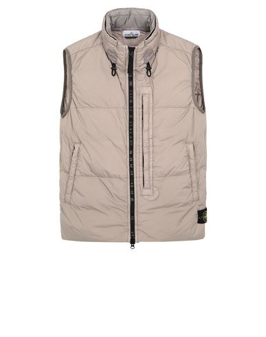 STONE ISLAND G0123 GARMENT DYED CRINKLE REPS NY DOWN Gilet Homme Grège EUR 549