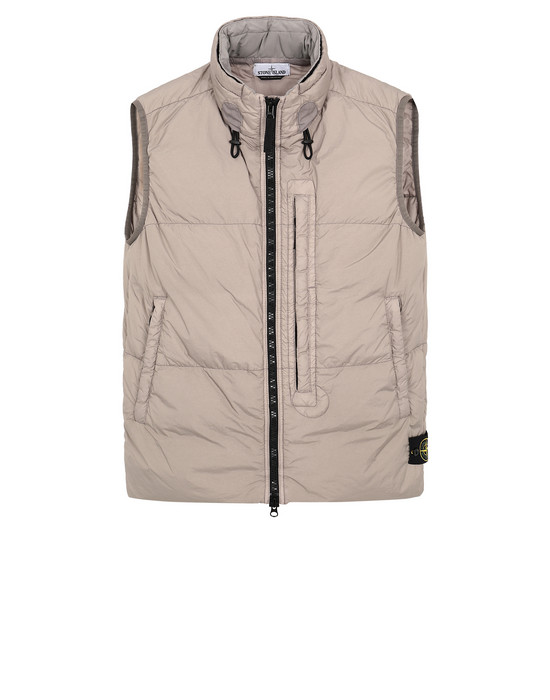 Vest G0123 GARMENT DYED CRINKLE REPS NY DOWN STONE ISLAND - 0