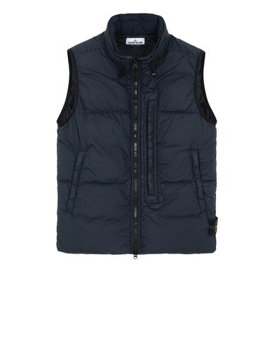 STONE ISLAND G0123 GARMENT DYED CRINKLE REPS NY DOWN Waistcoat Man Blue EUR 549