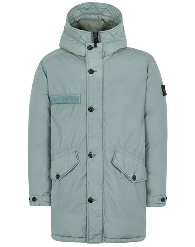 STONE ISLAND 71032 NASLAN LIGHT WATRO DOWN-TC Mid-length jacket Man Sage Green USD 898