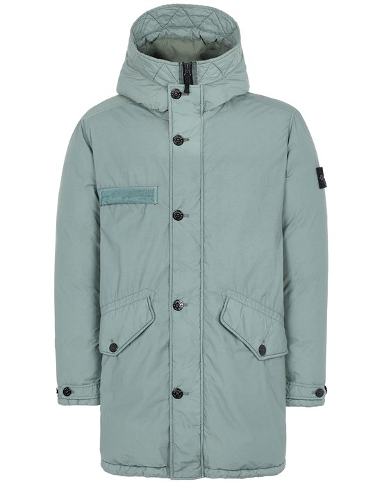 Mid-length jacket Man 71032 NASLAN LIGHT WATRO DOWN-TC Front STONE ISLAND