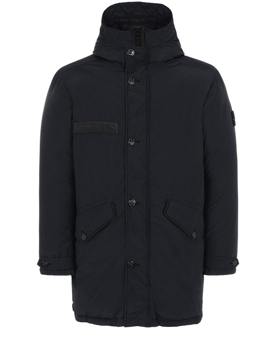 STONE ISLAND 71032 NASLAN LIGHT WATRO DOWN-TC Mid-length jacket Man Black