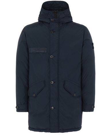 STONE ISLAND 71032 NASLAN LIGHT WATRO DOWN-TC Mid-length jacket Man Blue USD 737