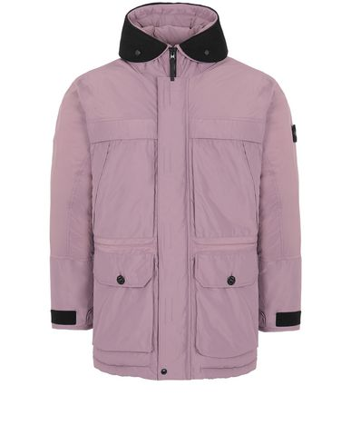 STONE ISLAND 40626 MICRO REPS DOWN Mid-length jacket Man Magenta EUR 692