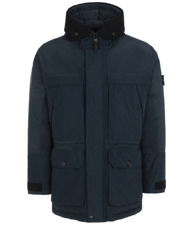 STONE ISLAND 40626 MICRO REPS DOWN Mid-length jacket Man Blue EUR 524