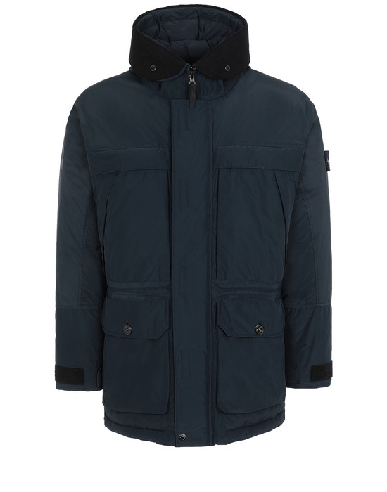 STONE ISLAND 40626 MICRO REPS DOWN Mid-length jacket Man Blue