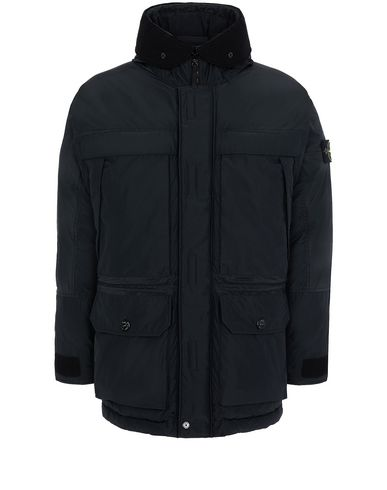 STONE ISLAND 40626 MICRO REPS DOWN Mid-length jacket Man Black USD 988
