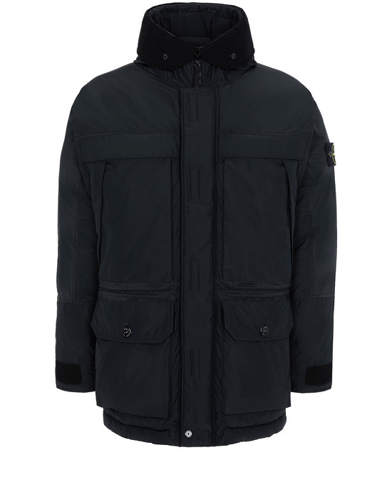 STONE ISLAND 40626 MICRO REPS DOWN Mid-length jacket Man Black