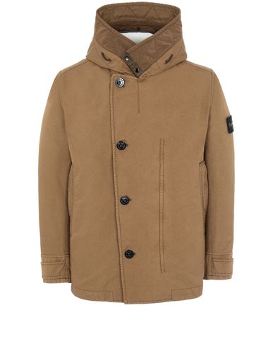 STONE ISLAND 42049 DAVID-TC WITH SHEEPSKIN_DETACHABLE LINING Jacket Man Tobacco EUR 867