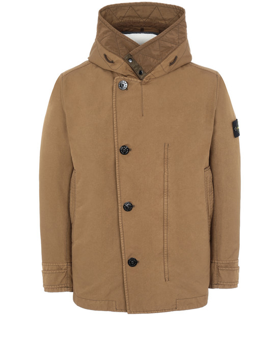 STONE ISLAND 42049 DAVID-TC WITH SHEEPSKIN_DETACHABLE LINING 休闲夹克 男士 烟草色