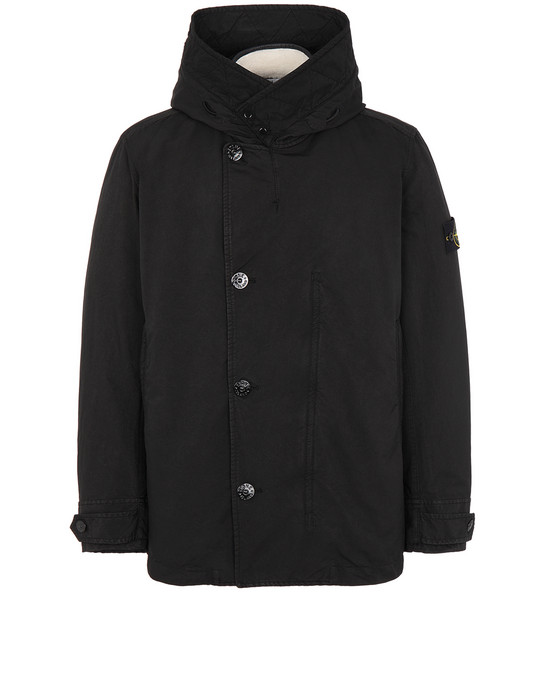 STONE ISLAND 42049 DAVID-TC WITH SHEEPSKIN_DETACHABLE LINING ブルゾン メンズ ブラック