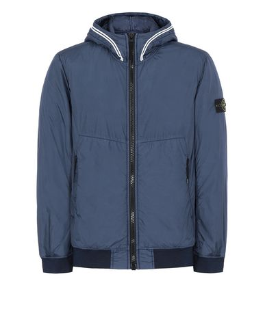 STONE ISLAND 40423 GARMENT DYED CRINKLE REPS NY WITH PRIMALOFT®-TC Jacket Man Marine Blue USD 643
