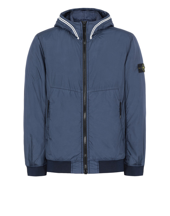 STONE ISLAND 40423 GARMENT DYED CRINKLE REPS NY WITH PRIMALOFT®-TC Jacket Man Marine Blue