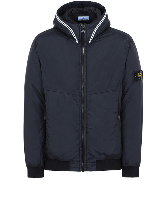 STONE ISLAND 40423 GARMENT DYED CRINKLE REPS NY WITH PRIMALOFT®-TC Jacket Man Blue
