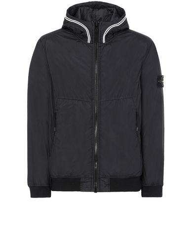 STONE ISLAND 40423 GARMENT DYED CRINKLE REPS NY WITH PRIMALOFT®-TC Jacket Man Black EUR 340