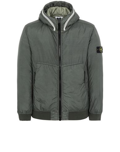 STONE ISLAND 40423 GARMENT DYED CRINKLE REPS NY WITH PRIMALOFT®-TC Jacket Man Musk Green EUR 486