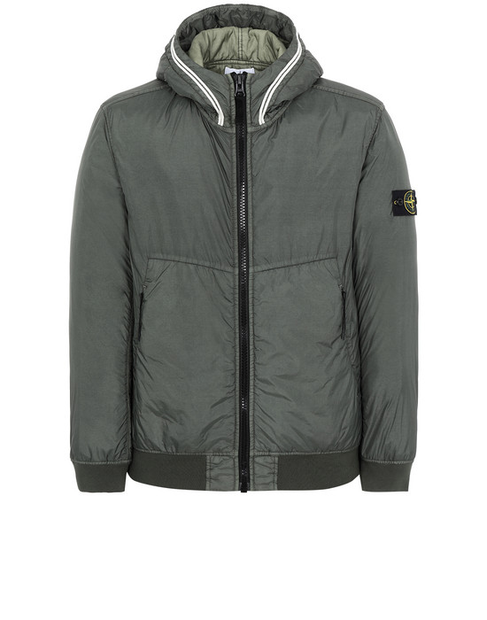 STONE ISLAND 40423 GARMENT DYED CRINKLE REPS NY WITH PRIMALOFT®-TC Jacket Man Musk Green