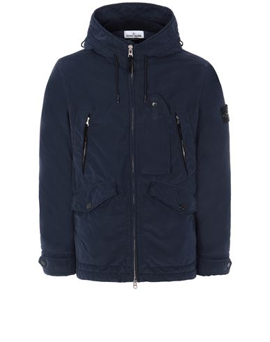 STONE ISLAND 40931 DAVID LIGHT-TC WITH MICROPILE Jacket Man Marine Blue EUR 775
