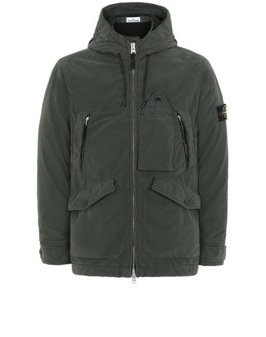 STONE ISLAND 40931 DAVID LIGHT-TC WITH MICROPILE Jacket Man Musk Green EUR 587