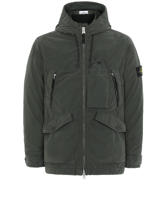 STONE ISLAND 40931 DAVID LIGHT-TC WITH MICROPILE Cazadora Hombre Musgo