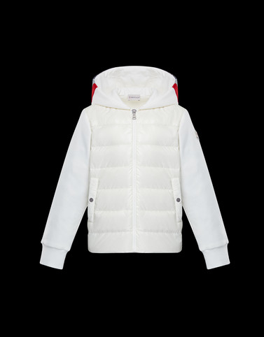 HOODED JUMPER White New in Man