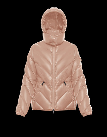BROUEL Pink Short Down Jackets Woman
