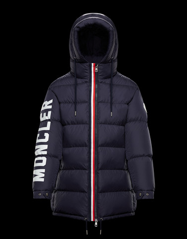 MONCENISIO Dark blue Long Down Jackets Man