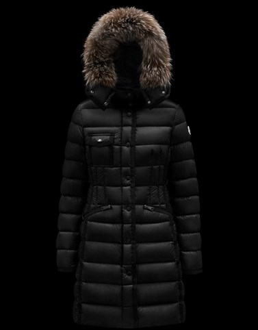 HERMIFUR Black Category Long outerwear Woman