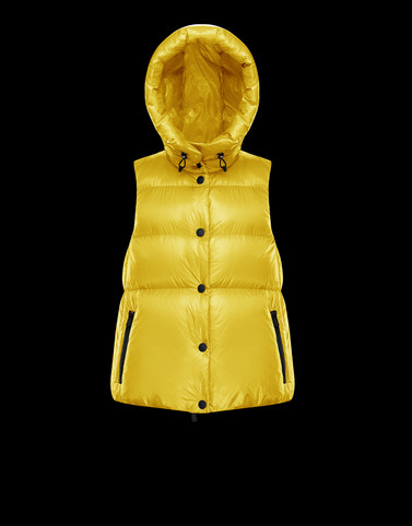 RESY Yellow Grenoble Down Jackets and Gilets Woman