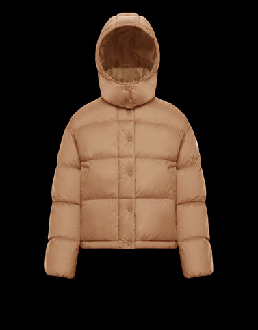 ONIA Beige Short Down Jackets Woman