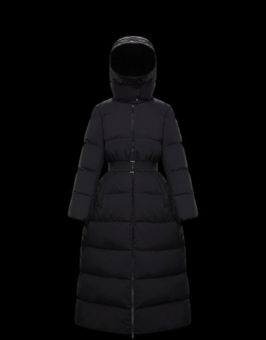 GOELO Black Long Down Jackets Woman