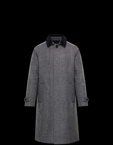 VALLORYX Grey Long Down Jackets Man