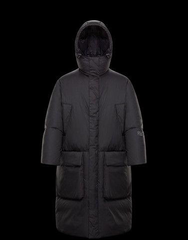 FLYNN Black Long Down Jackets Man