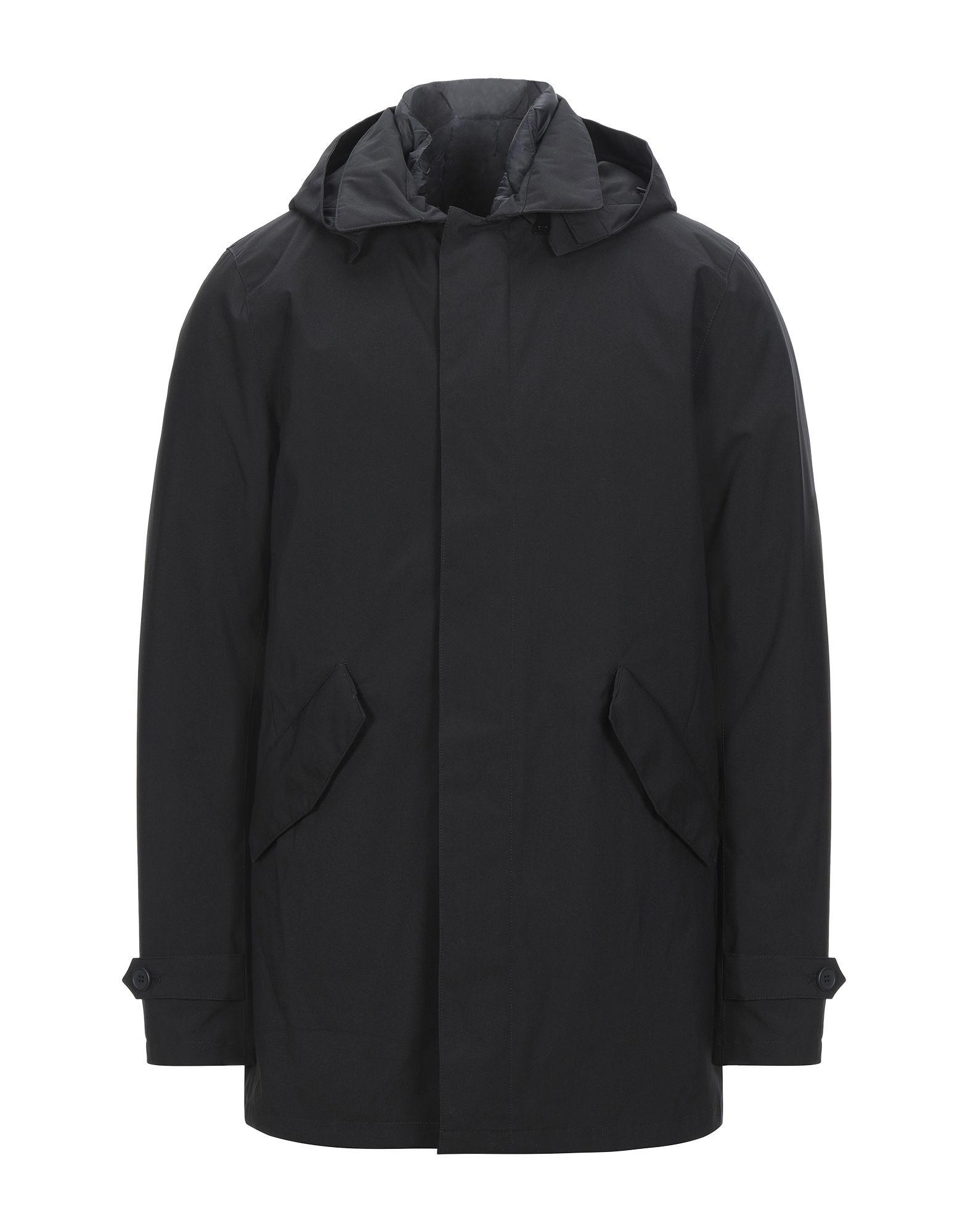 YOOX.COM(ユークス)《セール開催中》ERIC HATTON メンズ 合成繊維中綿アウター ブラック 46 ポリエステル 100%