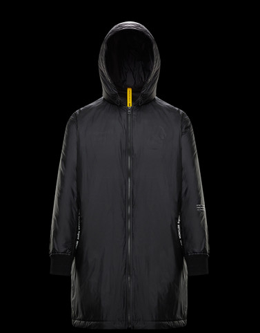 BASTONX Black Long Down Jackets Man