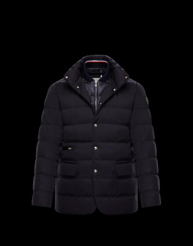 BESS Dark blue Category Overcoats Man