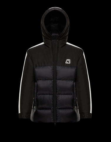 PERNON Black Down Jackets Man