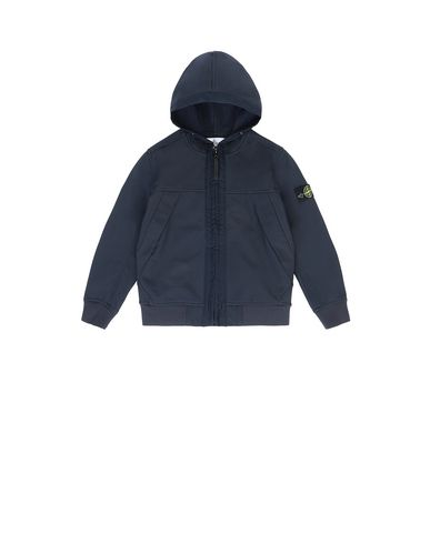 STONE ISLAND KIDS Q0130 SOFT SHELL-R LIGHTWEIGHT JACKET Man Blue USD 261