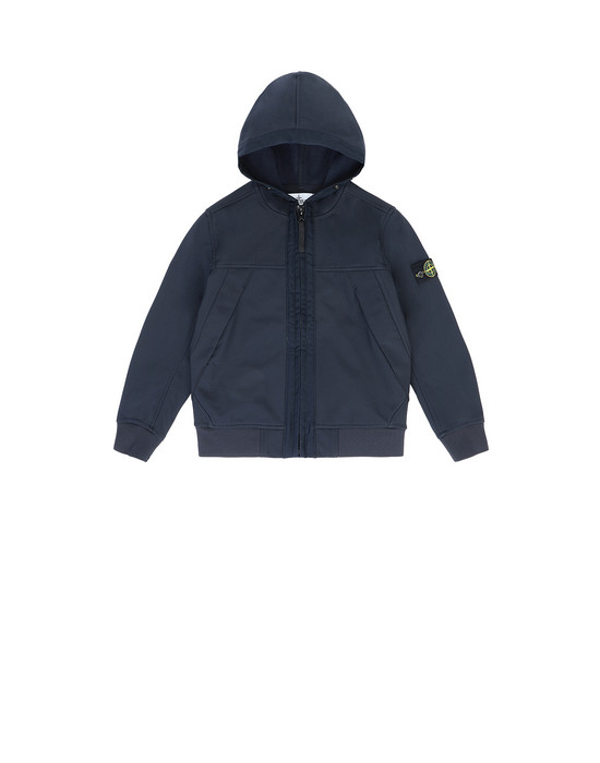 STONE ISLAND JUNIOR Q0130 SOFT SHELL-R 경량 재킷 남성 블루