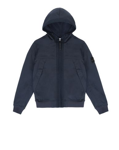 STONE ISLAND TEEN Q0130 SOFT SHELL-R LIGHTWEIGHT JACKET Man Blue EUR 257