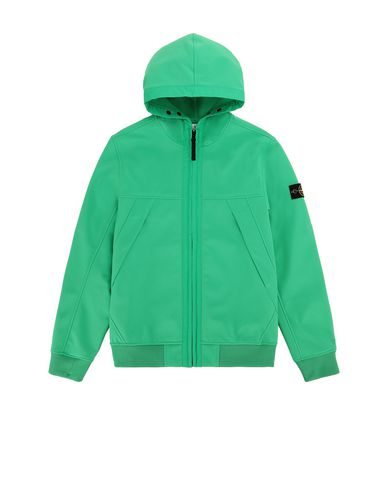 STONE ISLAND TEEN Q0130 SOFT SHELL-R LIGHTWEIGHT JACKET Man Green USD 451