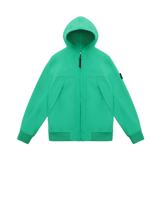 LIGHTWEIGHT JACKET Man Q0130 SOFT SHELL-R Front STONE ISLAND JUNIOR