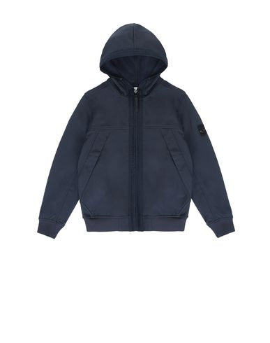 STONE ISLAND JUNIOR Q0130 SOFT SHELL-R LIGHTWEIGHT JACKET Man Blue EUR 215
