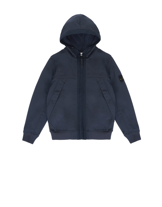STONE ISLAND JUNIOR Q0130 SOFT SHELL-R LIGHTWEIGHT JACKET Man Blue