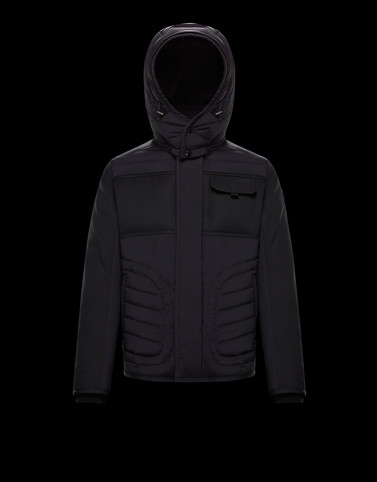 MONCH Black Category Overcoats Man