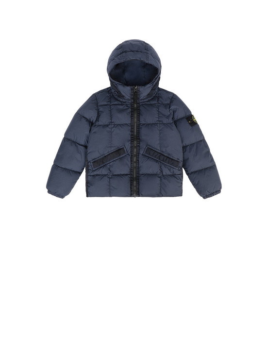 STONE ISLAND JUNIOR 40333 GARMENT DYED CRINKLE REPS NY DOWN 캐주얼 재킷 남성 마린 블루