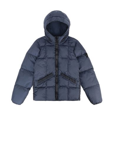 STONE ISLAND JUNIOR 40333 GARMENT DYED CRINKLE REPS NY DOWN Jacket Man Marine Blue USD 352
